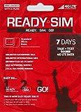 アメリカ Ready プリペイド SIM アクティベーションが簡単! (通話とSMS、データ通信500MB 7日間(ナノSIMサイズ))
