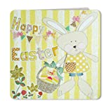 Happy Easter Bunny & Eggs Easter Card