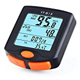 Bike Computer, RISEPRO Wireless Bicycle Speedometer Bike Odometer Cycling Multi Function Waterproof 4 Line Display with Backlight YT-813 RISEPRO