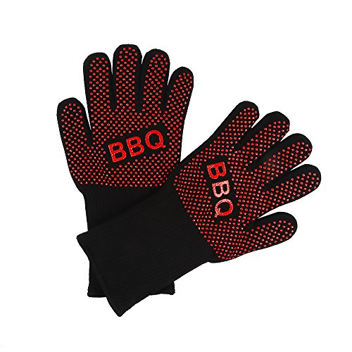 BBQ Cooking Gloves, Extreme Heat Resistant Barbeque Grilling Hands Protection - Grill & Kitchen Oven Mitts - Smoker Accessories (Bbq Island Book compare prices)