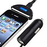 eForCity 3.5mm Universal FM Transmitter with Car Charger, Black
