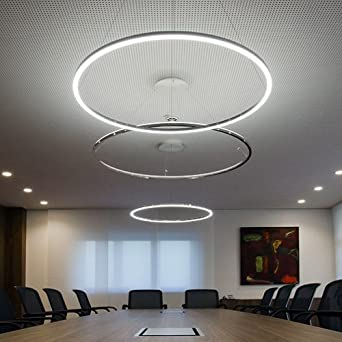 Lightinthebox pendant light modern design living led ring for Moderne led deckenlampen