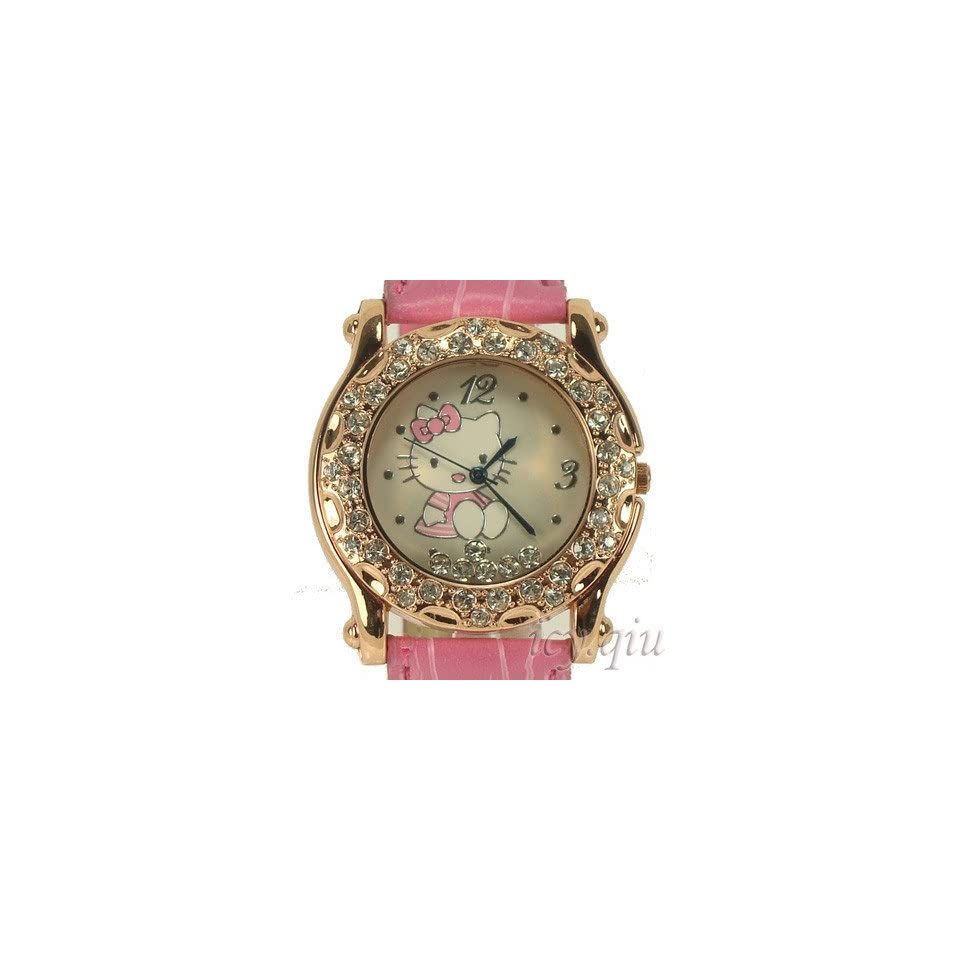 Hello Kitty Rose Floating Crystal Ladies Quartz Wrist Watch