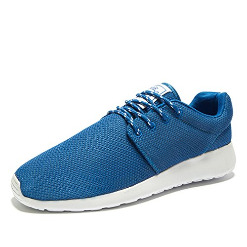 Adi Mens Breathable Comfortable Lace-Up Running Shoes,Walk,Beach Aqua,Outdoor,Exercise,Athletic Sneakers EU41 Blue