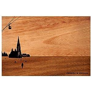 City-Brettchen aus Akazienholz, Motiv:Freiburg