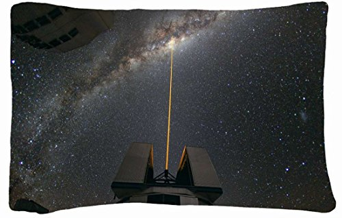 Microfiber Peach Standard Soft And Silky Decorative Pillow Case (20 * 26 Inch) - Nature Night Night Telescope Skyscapes Very Large Telescope Nature Night