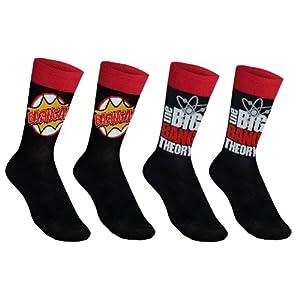 The Big Bang Theory Official Gift 2 Pair Mens Dress Socks Bazinga! (RRP £7.99!)