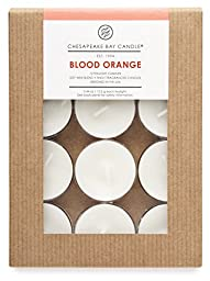 Chesapeake Bay Candle Heritage Collection Scented Tealights (Pack of 48), Blood Orange