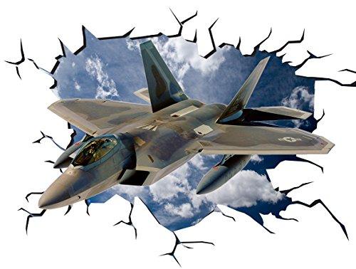 lockheed-martin-f-35-lightning-ii-poster-v003-crack-pared-smash-adhesivo-de-pared-autoadhesivo-3d-ar
