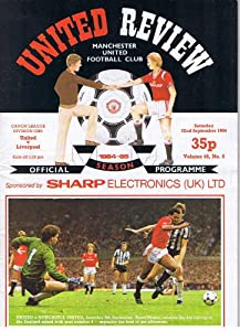 Manchester United v Liverpool FC 22/09/84 (Old Trafford) football programme