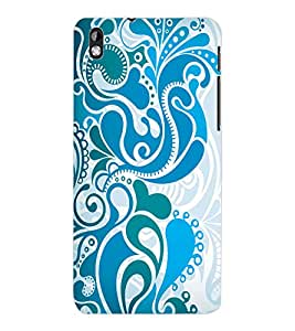 ColourCraft Beautiful Pattern Design Back Case Cover for HTC DESIRE 816
