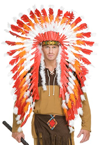 Indian Headdress with Trailer Adult Costume Accessory