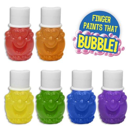 Mr. Bubble 6 CT Bubbling Finger Paints