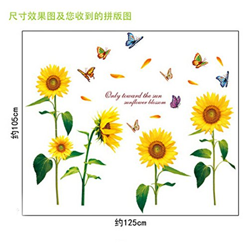 Joylive Removable Sunflower Room Vinyl Decal Art Wall Home Decor Kids Nursery Stickers (Sticker Kitchen Cabinet compare prices)