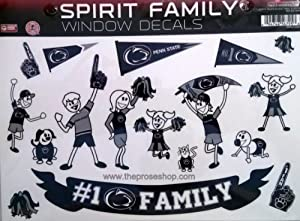 Penn State Nittany Lions Family Spirit Window Stickers Decal University of