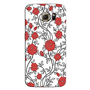 RED COLORFUL PATTERN BACK COVER FOR SAMSUNG S6 EDGE PLUS