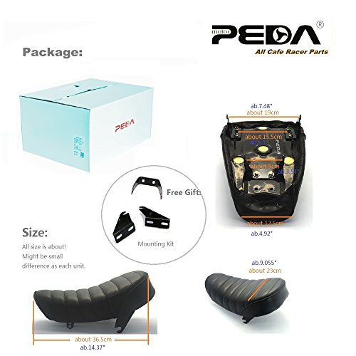 PEDA New Motorcycle Vintage Seat For HONDA Monkey Z Retro Hump 3