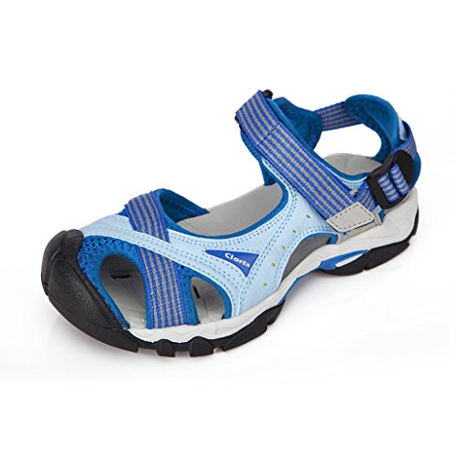 Clorts Women's Lightweight Athletic Sandal Outdoor Seaside Water Sneaker Blue SD-202A US7.5 (Women Outdoor Sandals compare prices)