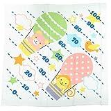 どうぶつと気球[ベビーバスタオル]身長計付き湯上げガーゼタオル 丸眞 赤ちゃん用 出産祝い グッズ 通販