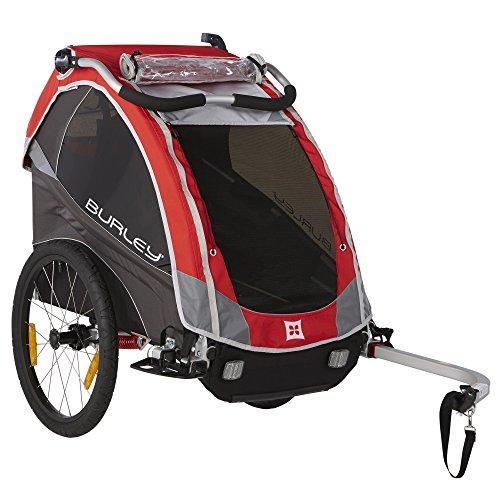 Burley Design Solo Child Bike Trailer, Red (Tangled Trailer compare prices)