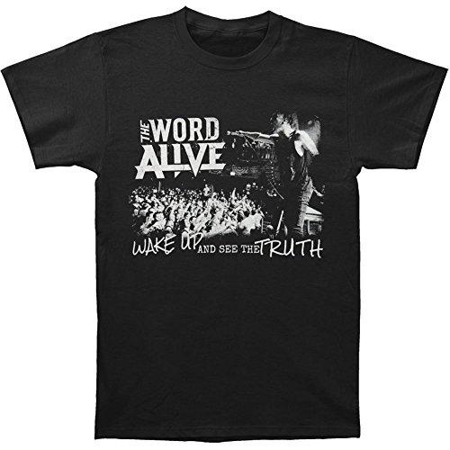 Arnoldo Blacksjd Word Alive Men's Wake Up T-shirt Black X-Large