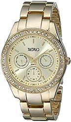 XOXO Women's XO5563 Rhinestones Accent Gold-Tone Bracelet Watch