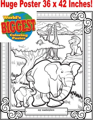 Just For Laughs World's Biggest Coloring Posters- Jungle