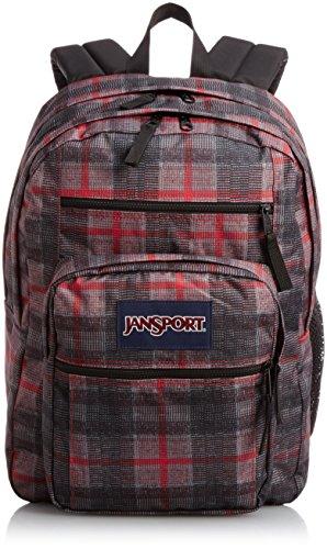 JanSport Big Student Classics Series Backpack - Red Tape Knit Plaid