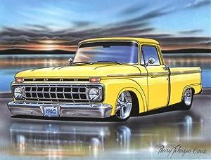 Amazon.com: 1965 Ford F100 Styleside Pickup Classic Truck Art Print