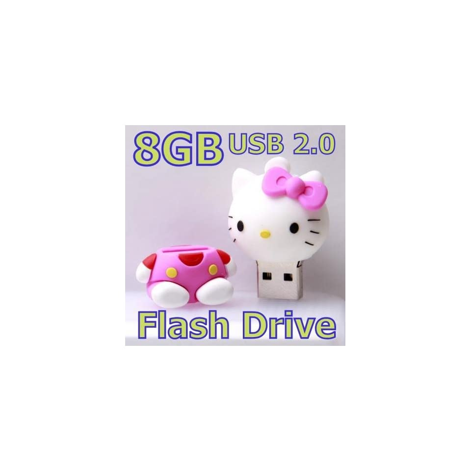 8G 8GB Pink Hello Kitty Cartoon Cat Memory Stick USB Flash Drive