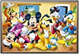 Posters: Walt Disney Poster - Mickey And Friends 36x24 Dry Mount Poster Gold Wood Framed