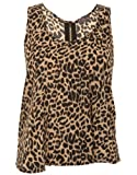 Zip Back Animal Print Chiffon Crop Top.S/M
