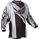 Fly Racing F-16 Race Jersey, Black/White, Size: Lg 365-520L