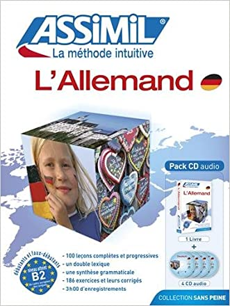 L'Allemand - learn German for French speakers book+4 audio CD's (German Edition) written by Maria Roemer