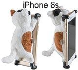 【iPhone 6s対応】CHATTY 2 ネコ型ぬいぐるみiPhoneカバー for iPhone6 / 6s ねこのアイフォン 猫ケース (ブチ)