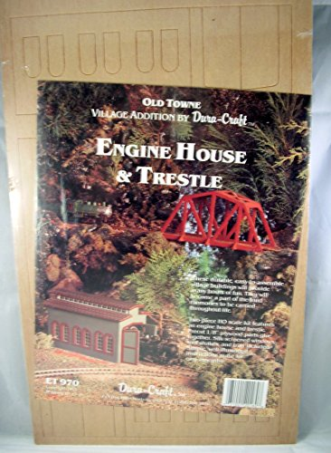 Dura-Craft HO Scale Engine House & Trestle ET970 Old Town Village Addition by Dura-Craft