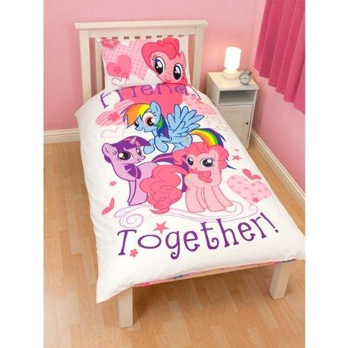 girls kids my little pony quilt duvet cover bedding set twin bed