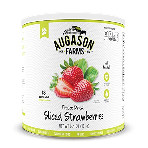 Augason Farms Sliced Strawberries 6.4 oz #10 Can (Freeze Dried Strawberries 10 Can compare prices)