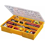 Stack-On SB-18 17 Compartment Parts Storage Organizer Box with Removable Dividers, Yellow