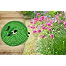 Expandable Hose 100 Feet Green, No Kinking, Flexible, Lightweight, Super Strong, Superior to As Seen On TV Pocket Hose, Flex-Able Hose, Magic Hose, Shrinking Hose, DAP Xhose, Flexable Hose, Expands to 3 Times it's Original Length, Water Garden, Plants, Grass, No Tangle, Twist, Kink, 7 In 1 Sprayer Head Attachment Included, Expands and Contracts, Christmas Gift, Auto, Car, Boat