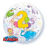 Age 2 Birthday Jungle Animals Bubble Balloon