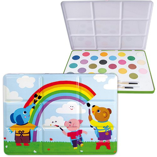 Vilac Melusine's Baby Shape and Color Recognition Toy Tin, Large
