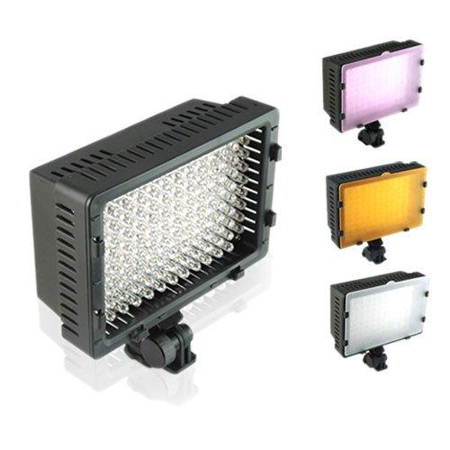 CN-126 LED Camera 126 LED DV DC Flash Camcorder Photo Video Light Hot Shoe Lamp Light For Nikon D90 D3000 D5000 D1 CANON EOS 550D 7D 5D Mark II+ 3 Filters