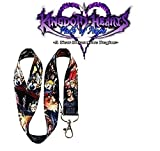 Kingdom Hearts Anime Lanyard - Black