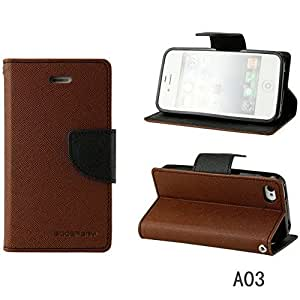 N3Pow'r Korean Original Mercury Flip Cover or Diary Cover for Sony Xperia T3 - Brown Black