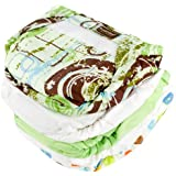 Kushies 5 Pack Washable Ultra-Lite Diaper For Toddler, Neutral Print