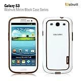 Walnutt by Zenus Metro Block - White / Brown - Samsung i9300 Galaxy S3