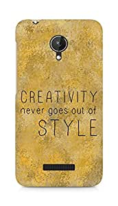 AMEZ creativity never goes out of style Back Cover For Micromax Canvas Spark Q380