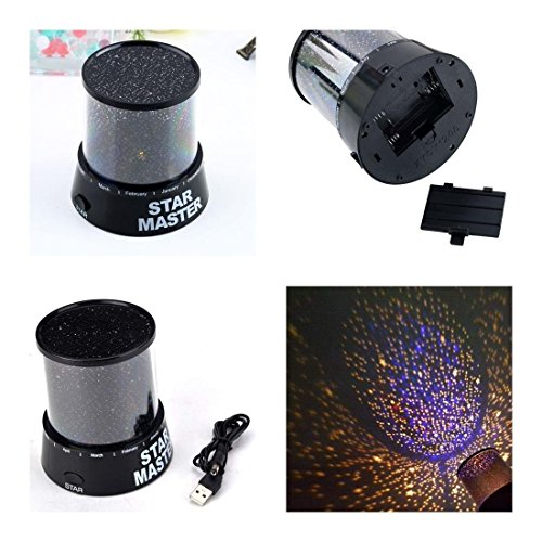 1 Pcs Cool Popular Nightlight Starry Cosmos Romatic Gift Star Sky Color Black (Glass Blowing Starter Kit compare prices)
