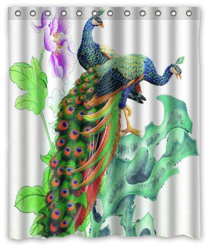 Happy Shopping Go Custom Wonderful Charming Peacocks Waterproof Bathroom Fabric Shower Curtain 60